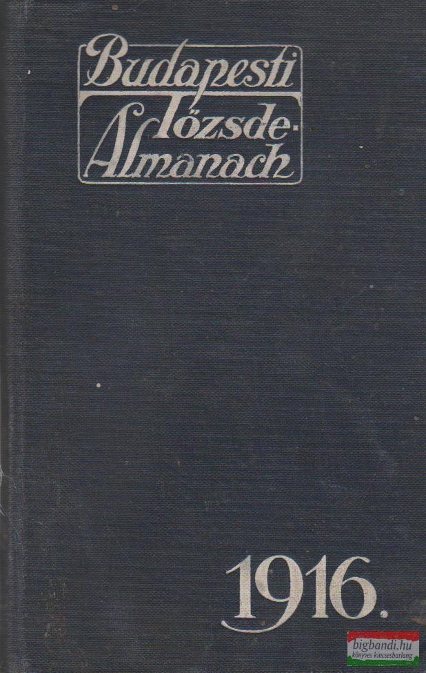 Budapesti tőzsde-almanach 1916