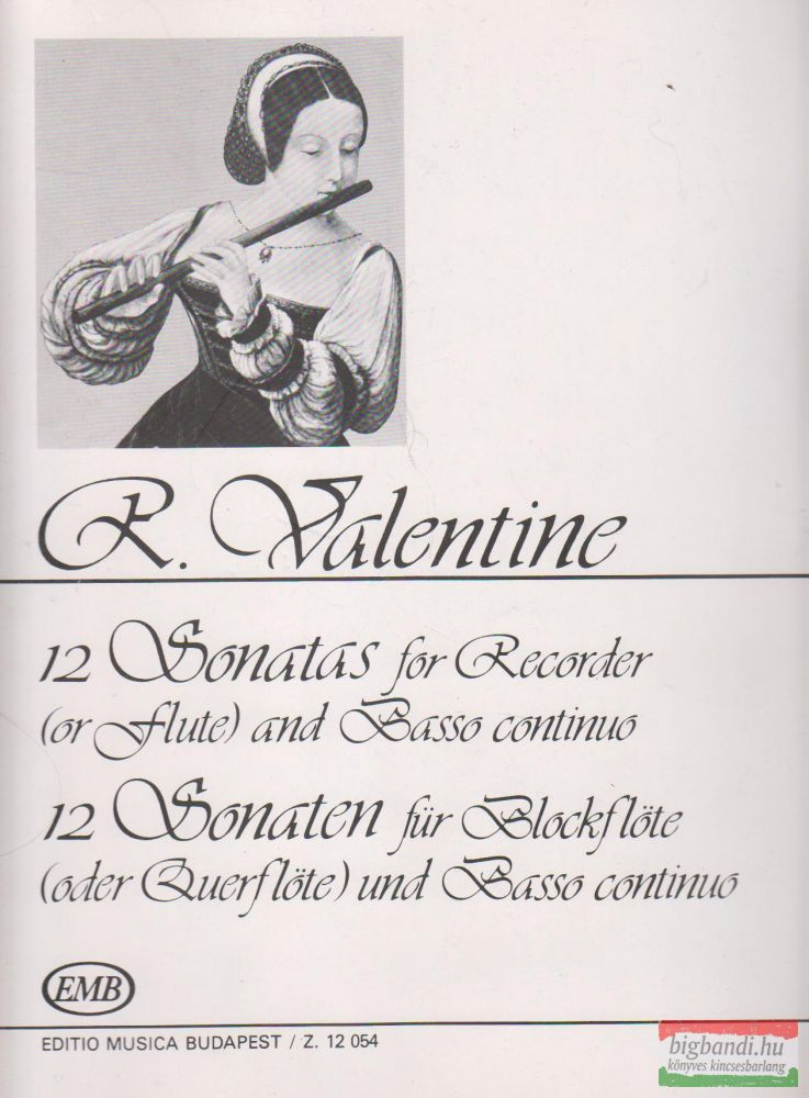 12 Sonatas for Recorder (or flute) and Basso continuo