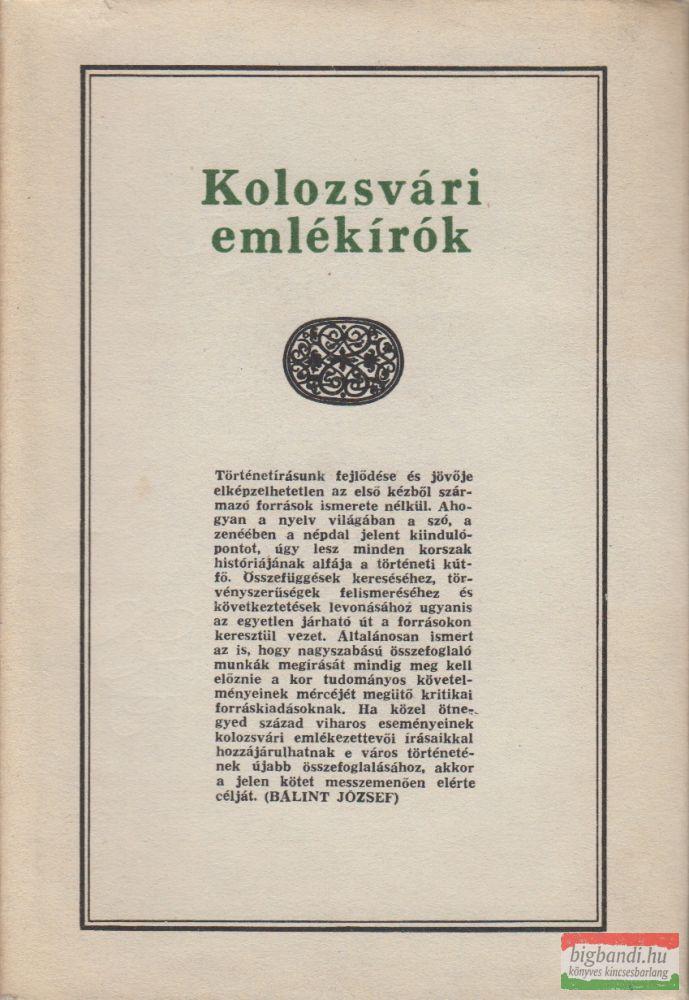 Kolozsvári emlékírók