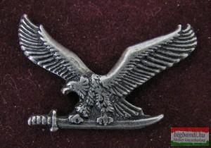 Kitűző - Turul, ezüst antik