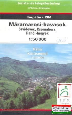 Máramarosi-havasok Szvidovec, Csornahora, Rahói-hegyek 1:50000