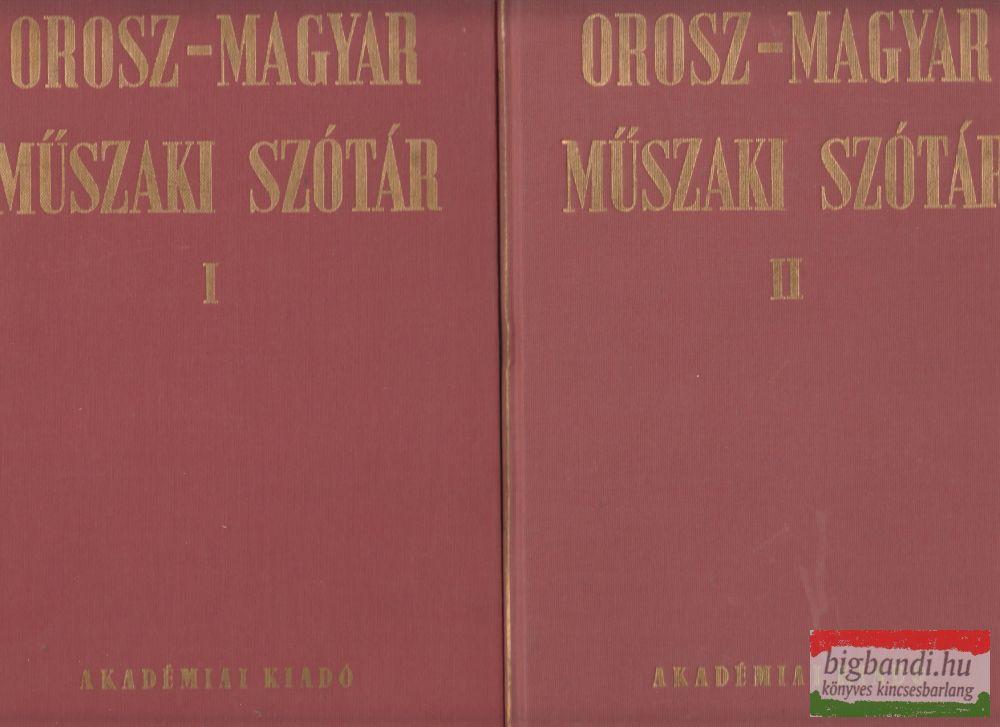 Orosz-magyar műszaki szótár I-II.