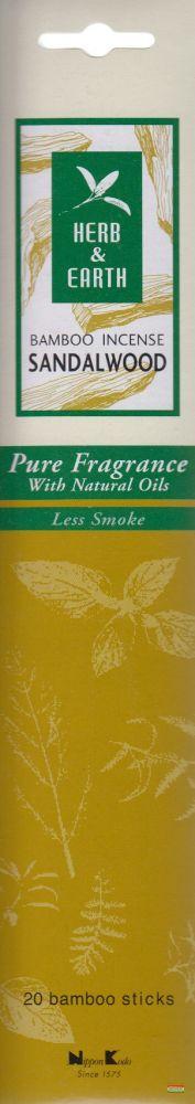 Herb & Earth japán füstölő - Szantál