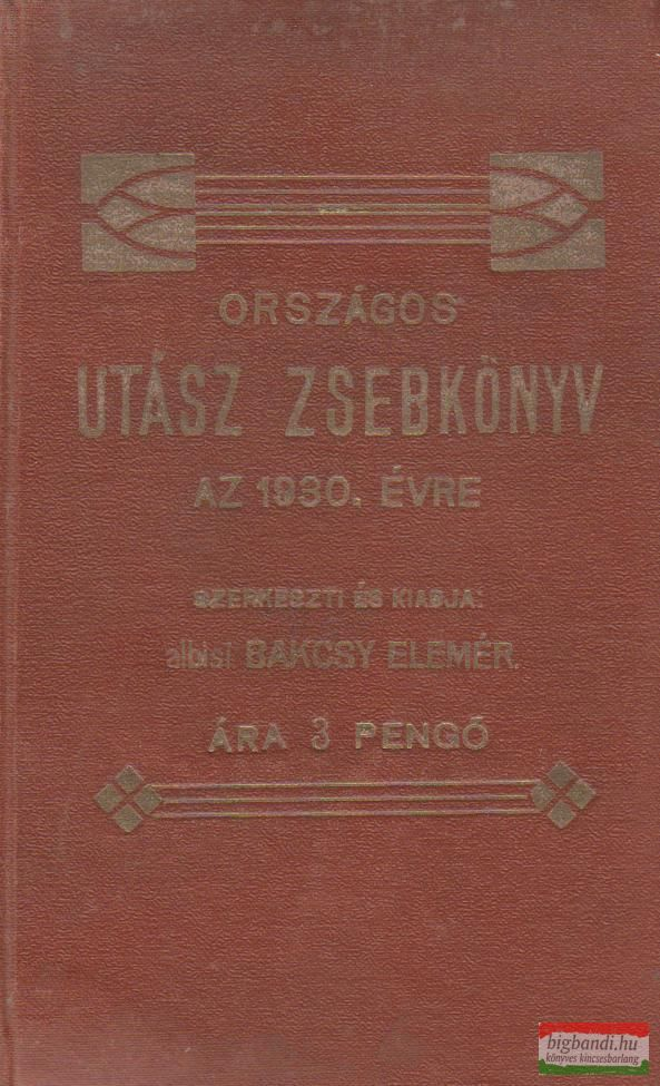 Országos Utász Zsebkönyv az 1930. évre