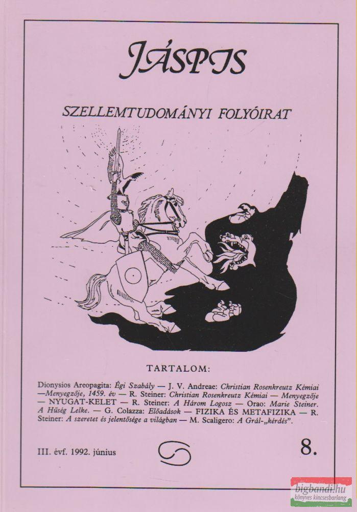 Jáspis - Szellemtudományi folyóirat 8. III. Évf. 1992 június