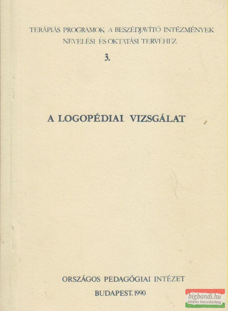 A logopédiai vizsgálat