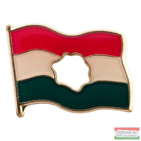 Kitűző - lyukas magyar zászló 17 mm