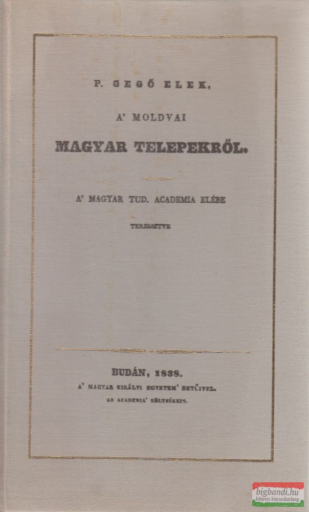 A' moldvai magyar telepekről