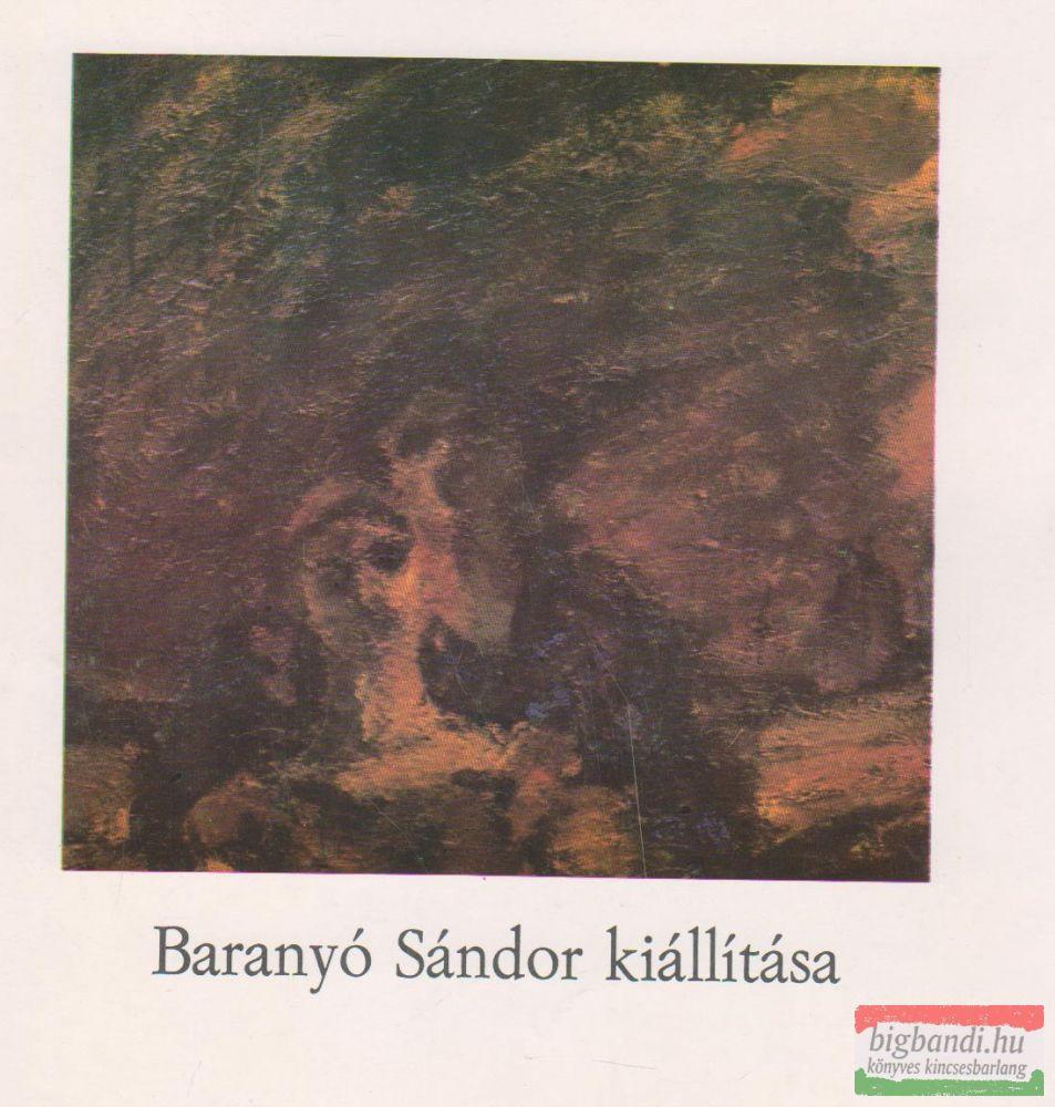 Baranyó Sándor kiállítása
