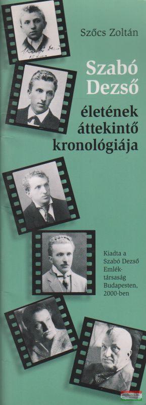 Szabó Dezső életének áttekintő kronológiája