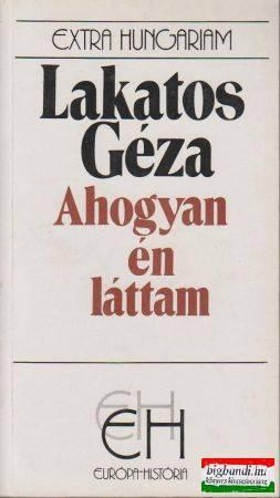 Lakatos Géza Lányának írása