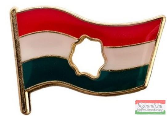 Kitűző - lyukas magyar zászló 21 mm