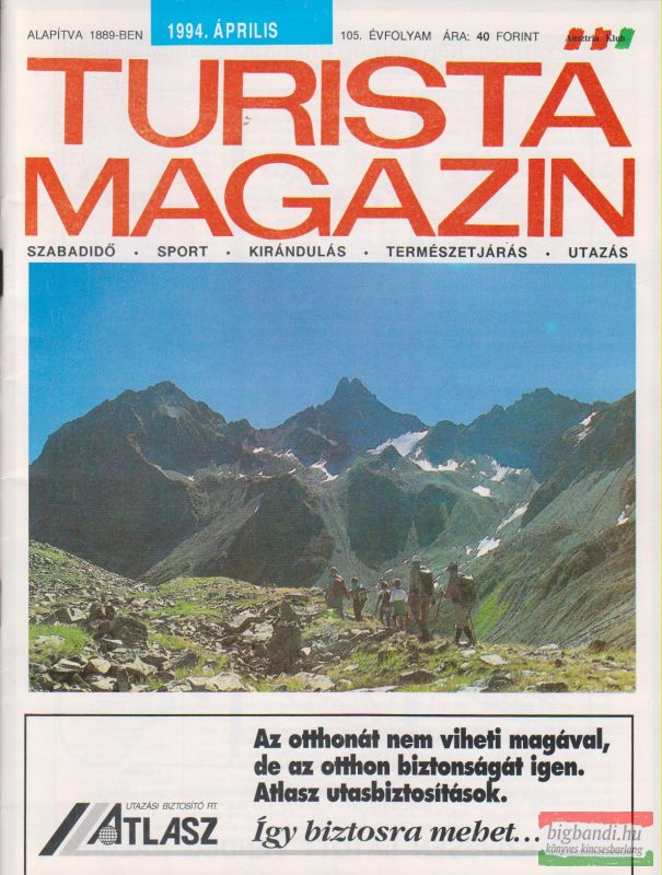 Turista magazin (55 szám) 40 Ft/darab