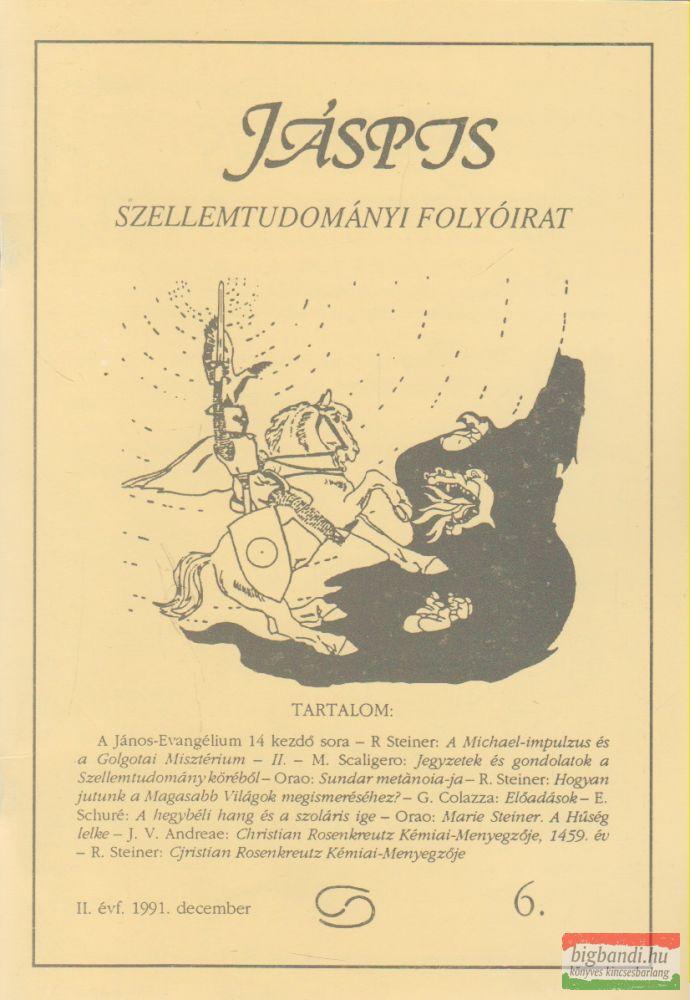 Jáspis - Szellemtudományi folyóirat 6. II. Évf. 1991 december
