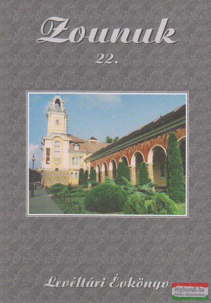Zounuk 22. - Levéltári Évkönyv