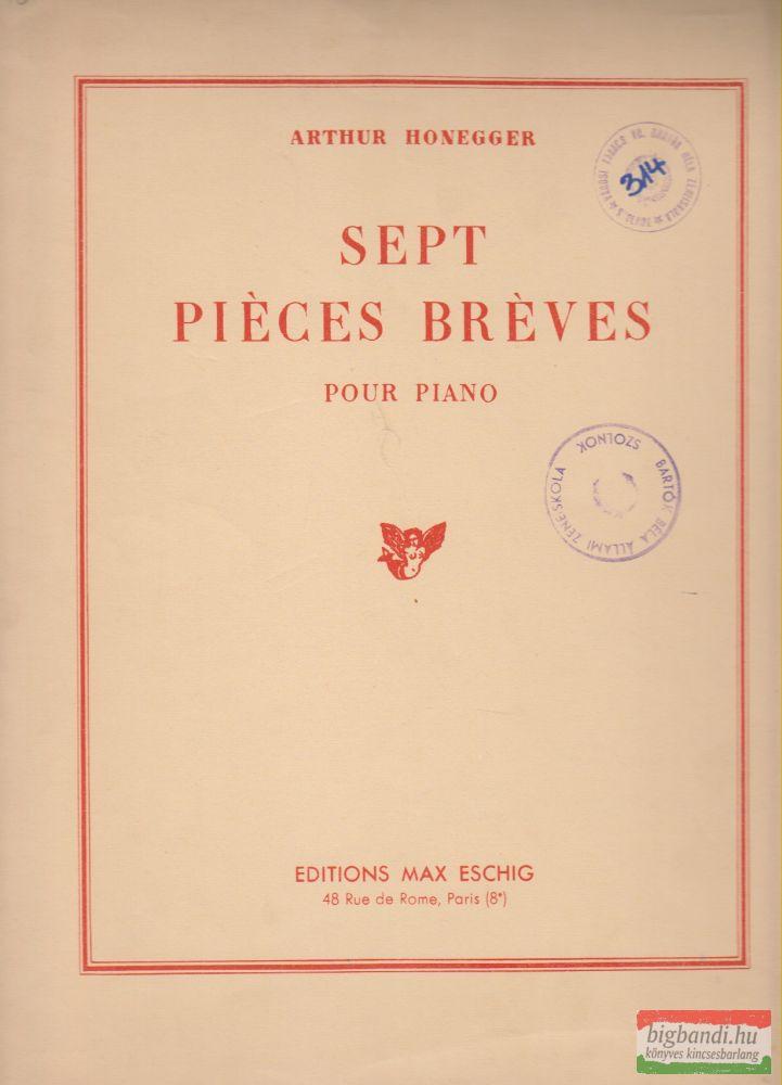Sept piéces bréves - Pour piano
