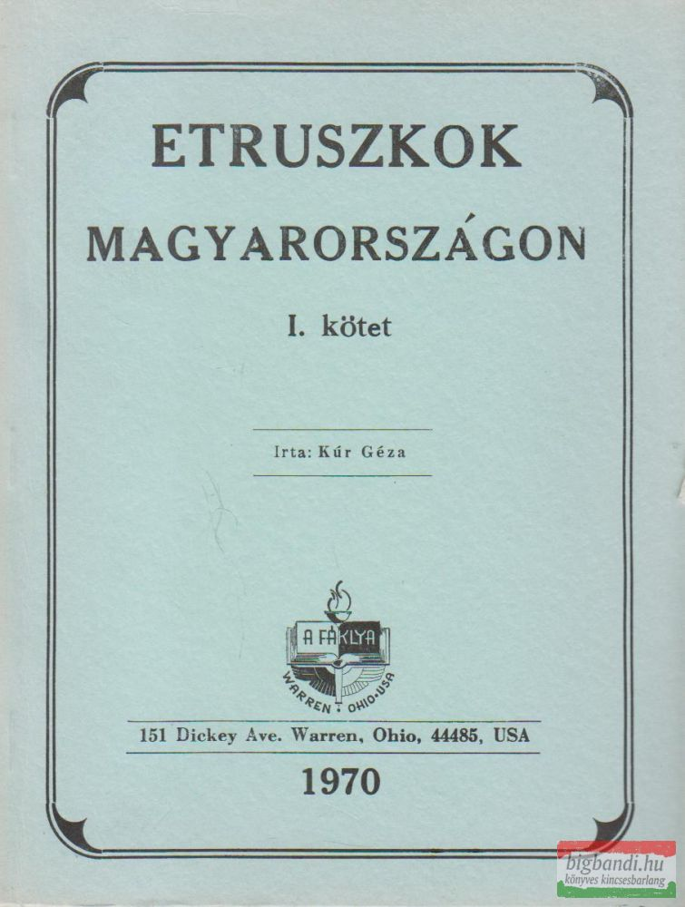 Etruszkok Magyarországon I.
