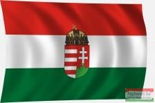 Címeres magyar zászló 135x90 cm