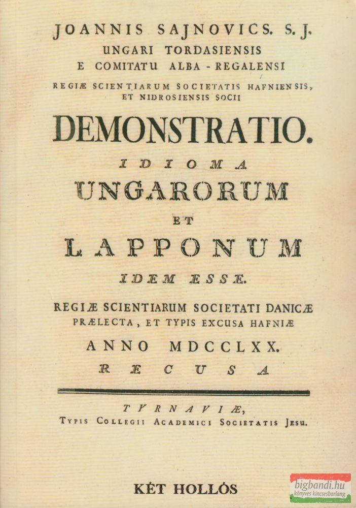 Demonstratio. Idioma Ungarorum et Lapponum idem esse