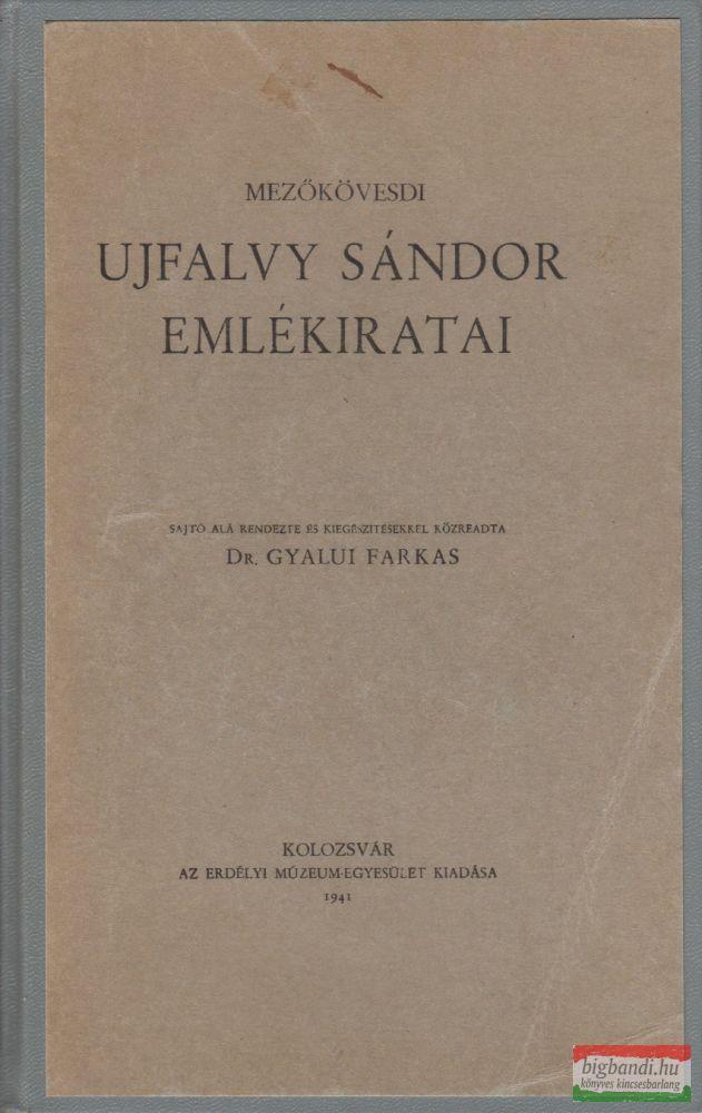 Mezőkövesdi Ujfalvy Sándor emlékiratai