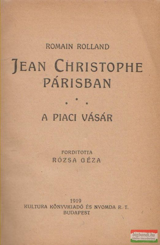 Jean Christophe Párisban - A piaci vásár
