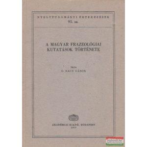 A magyar frazeológiai kutatások története