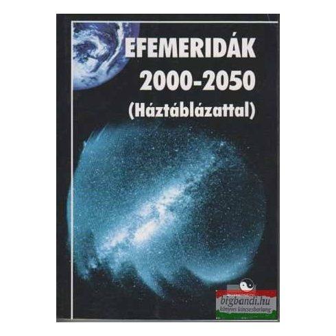Efemeridák 2000-2050 (háztáblázattal)