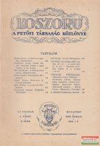 Koszorú - A Petőfi Társaság Közlönye / Új folyam V. kötet 3. szám