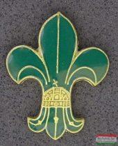 Kitűző - Cserkész liliom koronával