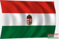 Címeres magyar zászló 60x40 cm - kis címerrel