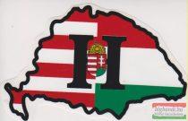 Nagy-Magyarország H-betűs koronás címerrel - autós matrica
