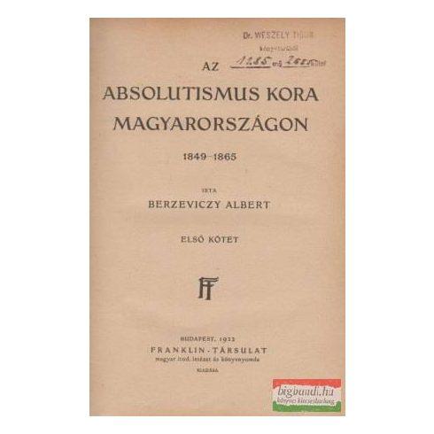 Az absolutismus kora Magyarországon 1849-1865