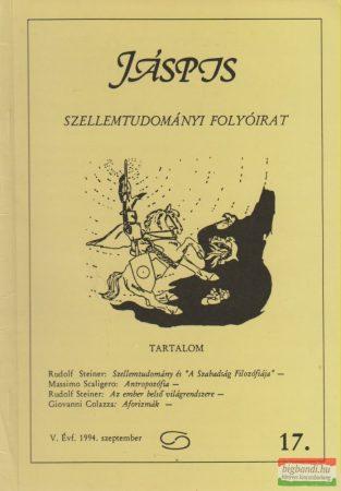 Jáspis - Szellemtudományi folyóirat 17. V. Évf. 1994 szeptember