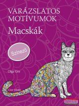 Varázslatos motívumok - Macskák - Színező