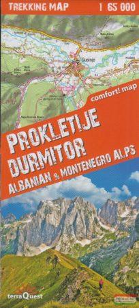 Prokletije, Durmitor, Albán- és Montenegrói Alpok trekking térkép