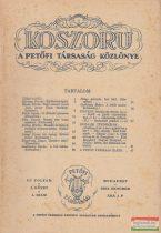 Koszorú - A Petőfi Társaság Közlönye / Új folyam I. kötet 1. szám