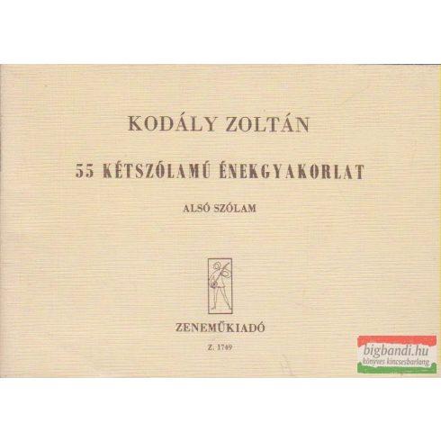 Kodály Zoltán - 55 kétszólamú énekgyakorlat - Alsó szólam