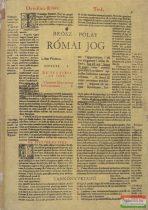 Brósz Róbert-Pólay Elemér - Római jog