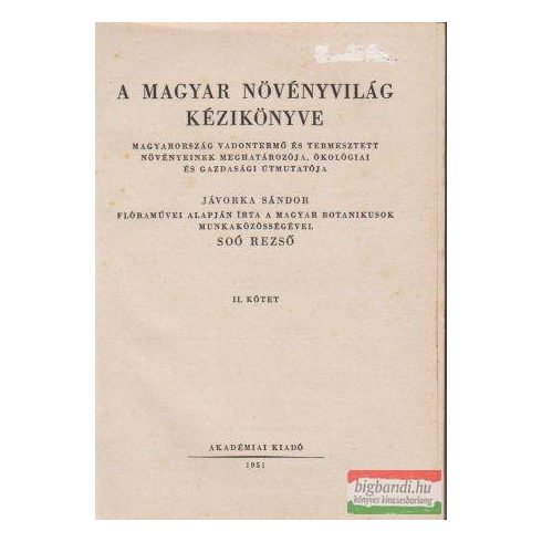 A magyar növényvilág kézikönyve II.