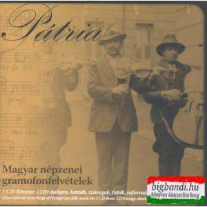 Pátria - magyar népzenei gramofonfelvételek CD-ROM