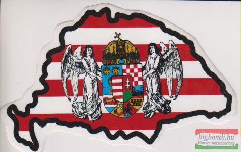 Autós matrica - NagyMagyarország, Árpád-sávos, angyalos-koronás címerrel