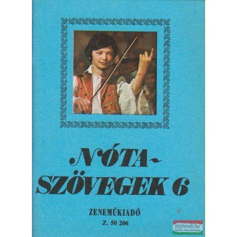 Leszler József - Nótaszövegek 6.