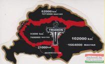 Nagy-Magyarország Trianon-kereszttel - autós matrica