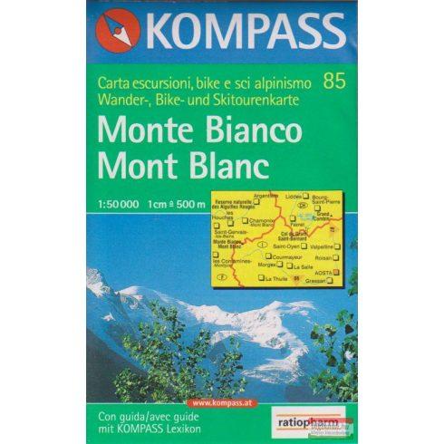 Monte Bianco - Mont Blanc 1:50 000