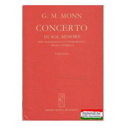 Concerto in sol minore per violincello (o contrabasso), archi e cembalo (Z. 7114)