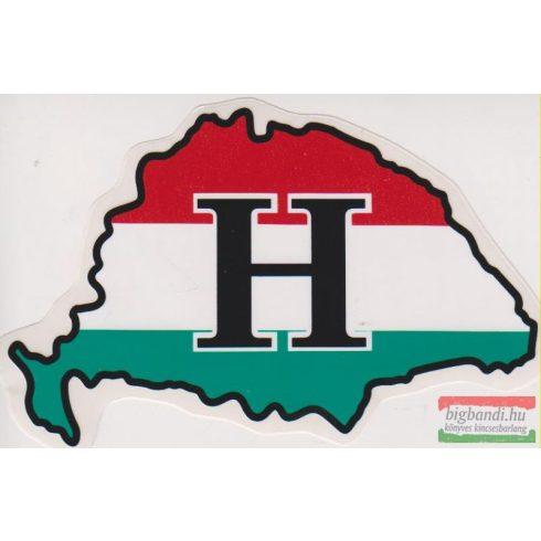 Nagy-Magyarország - nemzeti színű H-betűs autós matrica