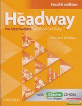 New Headway Pre-Intermediate Workbook with key Fourth Edition; with iChecker CD-ROM