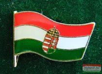 Kitűző - Magyar címeres zászló 18 mm