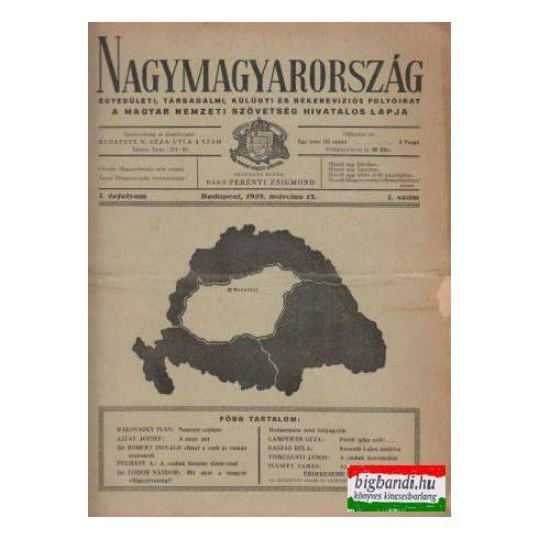 Nagymagyarország I.évfolyam/1.szám (1928)