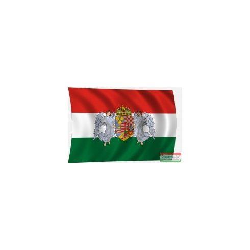 Angyalos címeres zászló - trikolor 60x40 cm